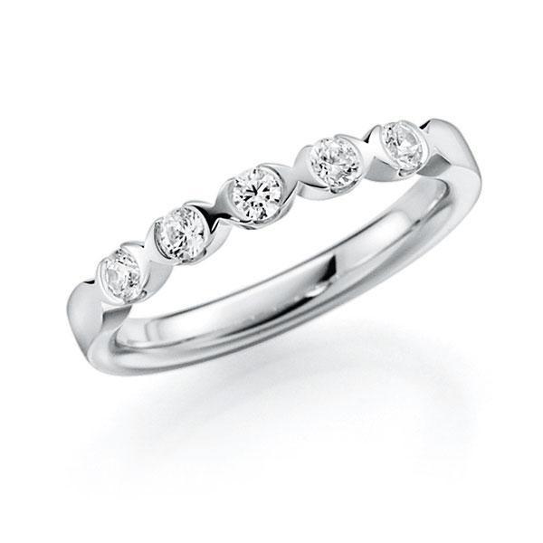 Memoire/Diamantring in Weißgold 585 mit zus. 0,3 ct. Brillant tw, vs von acredo - A-3RZ6F-W5-2LHGZZ
