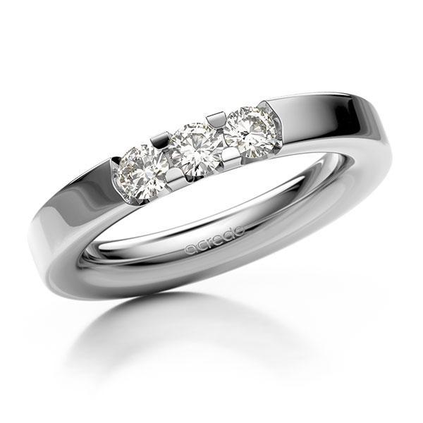 Memoire/Diamantring in Weißgold 585 mit zus. 0,45 ct. Brillant tw, vs von acredo - A-12EXB1-W5-1BYY3GZ