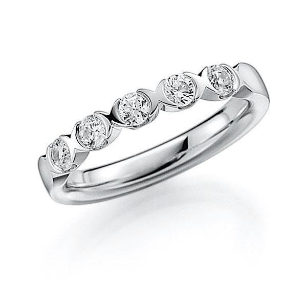 Memoire/Diamantring in Weißgold 585 mit zus. 0,5 ct. Brillant tw, vs von acredo - A-3RZ6K-W5-2LHH3Z