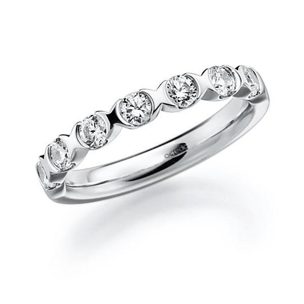 Memoire/Diamantring in Weißgold 585 mit zus. 0,7 ct. Brillant tw, vs von acredo - A-3RZ6L-W5-3FTXXZ