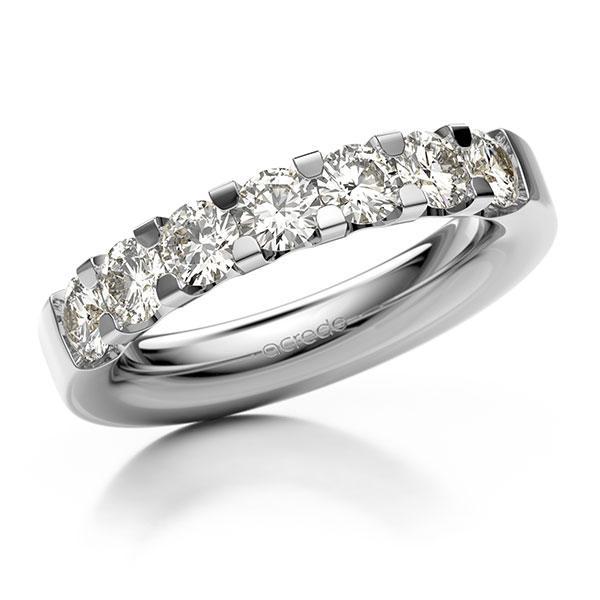 Memoire/Diamantring in Weißgold 585 mit zus. 1,4 ct. Brillant tw, vs von acredo - A-12EXC7-W5-1C6ZVGZ