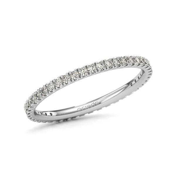 Memoire/Diamantring in Weißgold 585 vollausgefasst mit zus. 0,44 ct. Brillant tw, si von acredo - A-11QGE2-W5-1TVWWSZ