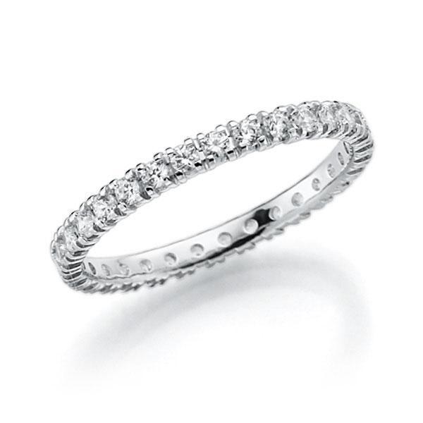 Memoire/Diamantring in Weissgold 585 vollausgefasst mit zus. 0,62 ct. Brillant tw, vs von acredo - A-7INT1-W5-2LHHGZ
