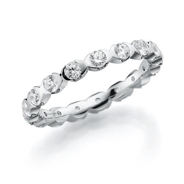 Memoire/Diamantring in Weißgold 585 vollausgefasst mit zus. 1,02 ct. Brillant tw, vs von acredo - A-3RZ6H-W5-2LHIIZ