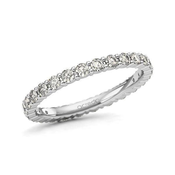 Memoire/Diamantring in Weißgold 585 vollausgefasst mit zus. 1,04 ct. Brillant tw, si von acredo - A-11QENQ-W5-1U1D6RZ