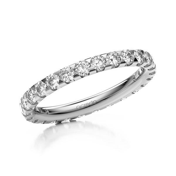 Memoire/Diamantring in Weißgold 585 vollausgefasst mit zus. 1,3 ct. Brillant tw, si von acredo - A-11M081-W5-1TVWX7Z