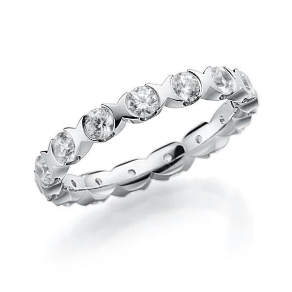 Memoire/Diamantring in Weißgold 585 vollausgefasst mit zus. 1,5 ct. Brillant tw, vs von acredo - A-3RZ6M-W5-2LHIMZ