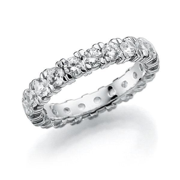 Memoire/Diamantring in Weissgold 585 vollausgefasst mit zus. 2,1 ct. Brillant tw, vs von acredo - A-7INTL-W5-2LGKKZ