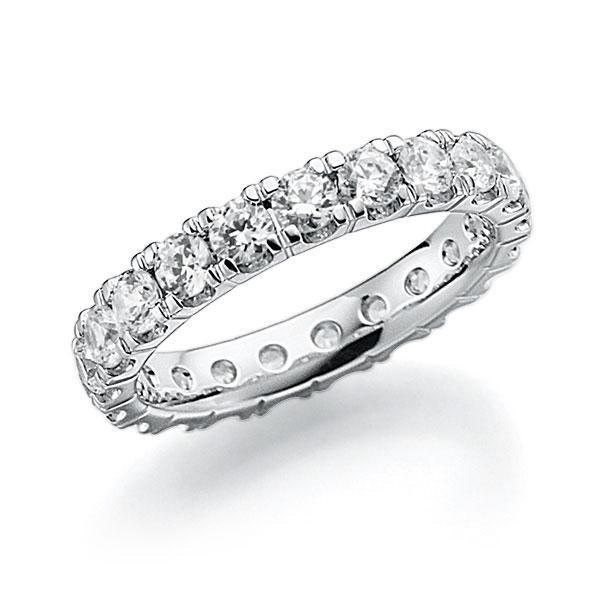 Memoire/Diamantring in Weißgold 585 vollausgefasst mit zus. 2,31 ct. Brillant tw, vs von acredo - A-7ILJR-W5-2LHI3Z