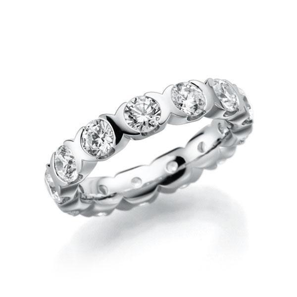 Memoire/Diamantring in Weißgold 585 vollausgefasst mit zus. 2,6 ct. Brillant tw, vs von acredo - A-3RZ6P-W5-2LHIRZ