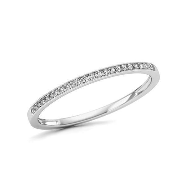 Memoire/Diamantring in Weißgold 750 mit zus. 0,06 ct. w, si - BD-11T24P-W7-1U5QPDZ