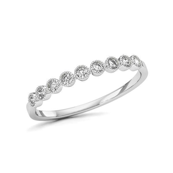 Memoire/Diamantring in Weißgold 750 mit zus. 0,166 ct. w, si - BD-11T2F1-W7-1U5R9KZ