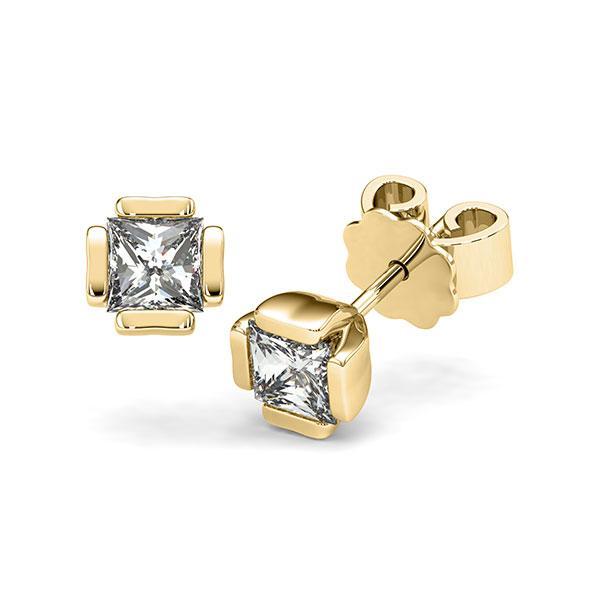 Ohrstecker in Gelbgold 585 mit 2x 0,5 ct. Prinzess-Diamant tw, vs von acredo - A-12I1LF-G5-1VCE0IZ