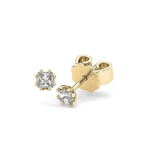 Ohrstecker in Gelbgold 585 mit zus. 0,3 ct. Prinzess-Diamant tw, vs von acredo - A-12HZCH-G5-1JUT66Z