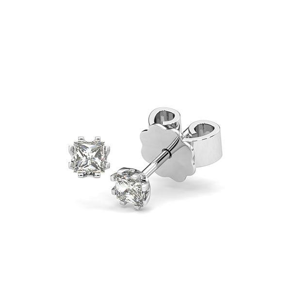 Ohrstecker in Weißgold 585 mit zus. 0,3 ct. Prinzess-Diamant tw, vs von acredo - A-12HZCG-W5-1JUT66Z
