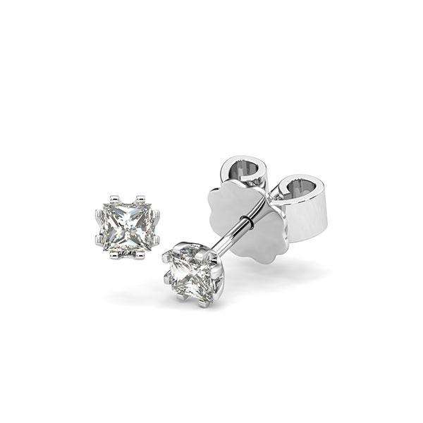 Ohrstecker in Weißgold 585 mit zus. 0,4 ct. Prinzess-Diamant tw, vs von acredo - A-12HZN7-W5-1MIVG6Z