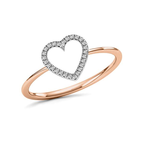Ring in Rotgold 750 mit zus. 0,048 ct. w, si - BD-12MQQ5-R7-1VL5H2Z