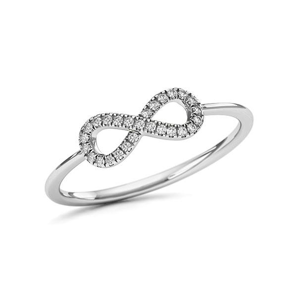 Ring in Weißgold 750 mit zus. 0,068 ct. w, si - BD-12MQ9E-W7-1VL4FQZ