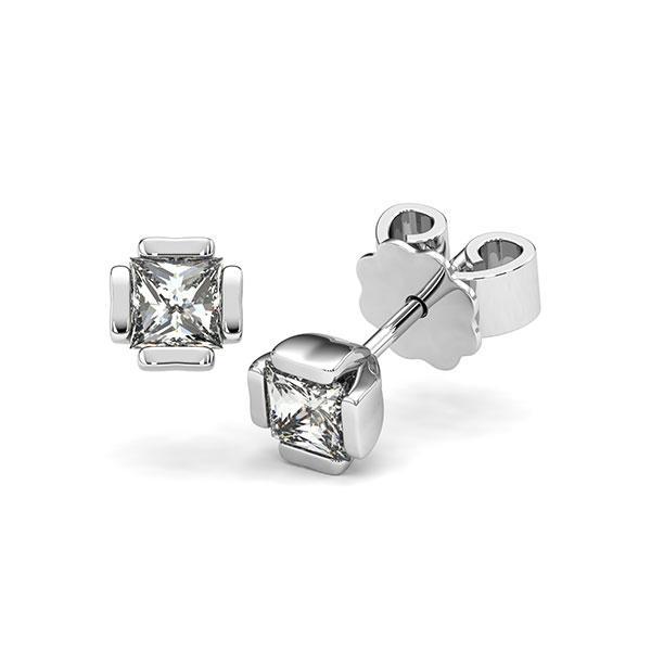 Set in witgoud 14 kt. met 2x 0,4 ct. Princess-Diamant tw,vs van acredo - A-12I1KX-W5-1VCE0HZ