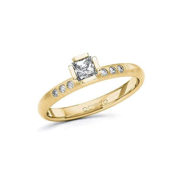 Verlobungsring in Gelbgold 585 mit 0,3 ct. + zus. 0,06 ct. Prinzess-Diamant tw, vs tw, si von acredo - A-10GD3Y-GG5-1S4FK0Z