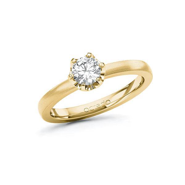 Verlobungsring in Gelbgold 585 mit 0,5 ct. Brillant tw, si von acredo - A-10G58I-GG5-1R7LETZ