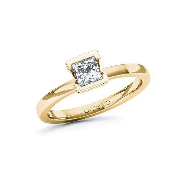 Verlobungsring in Gelbgold 585 mit 0,5 ct. Prinzess-Diamant tw, vs von acredo - A-10GCZ2-GG5-1QLNLMZ