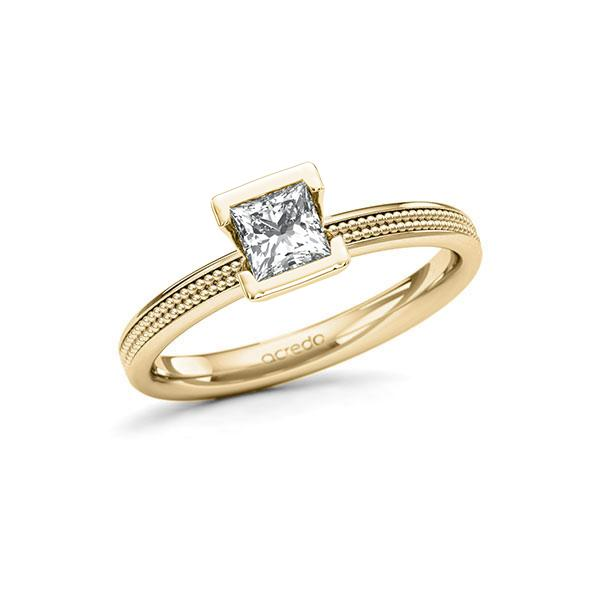 Verlobungsring in Gelbgold 585 mit 0,5 ct. Prinzess-Diamant tw, vs von acredo - A-11LVY6-GG5-1QLNLMZ