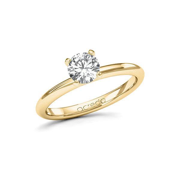 Verlobungsring in Gelbgold 585 mit 0,7 ct. Brillant tw, si von acredo - A-115IN6-GG5-1R7LF7Z