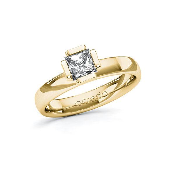 Verlobungsring in Gelbgold 585 mit 0,7 ct. Prinzess-Diamant tw, vs von acredo - A-10G50D-GG5-1R46SXZ