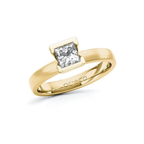 Verlobungsring in Gelbgold 585 mit 0,7 ct. Prinzess-Diamant tw, vs von acredo - A-10G5DE-GG5-1R46T2Z