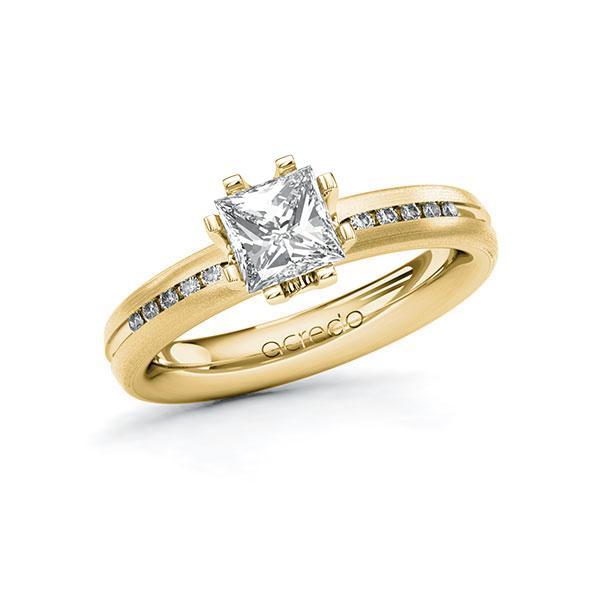 Verlobungsring in Gelbgold 585 mit 1 ct. + zus. 0,08 ct. Prinzess-Diamant tw, vs tw, si von acredo - A-10TQA4-GGG5-1RG7TAZ