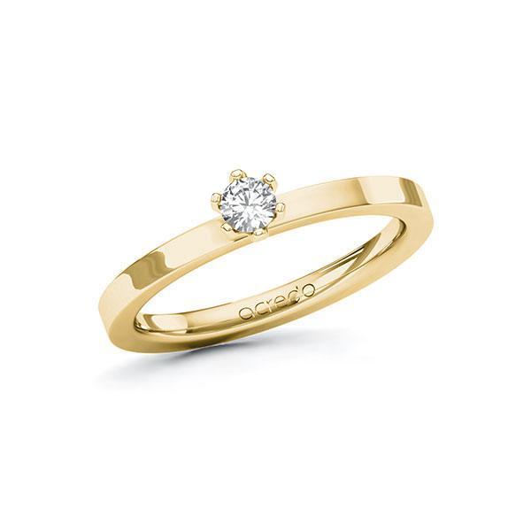 Verlobungsring in Gelbgold 585 mit zus. 0,15 ct. Brillant tw, si von acredo - A-10EYK6-GG5-1R0SUHZ