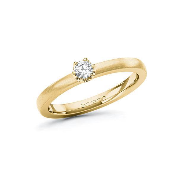 Verlobungsring in Gelbgold 585 mit zus. 0,15 ct. Brillant tw, si von acredo - A-10G58S-GG5-3IHJRZ