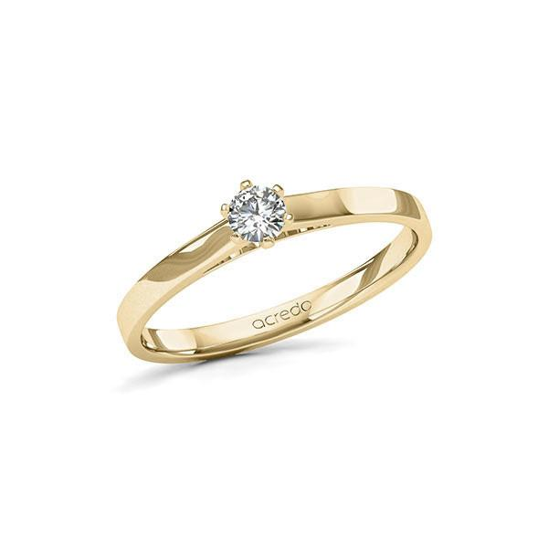 Verlobungsring in Gelbgold 585 mit zus. 0,15 ct. Brillant tw, si von acredo - A-11LHJ8-GG5-NLZALZ