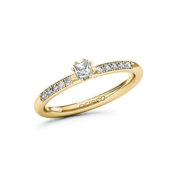 Verlobungsring in Gelbgold 585 mit zus. 0,23 ct. Prinzess-Diamant tw, si von acredo - A-10F87N-GG5-1R7V6LZ
