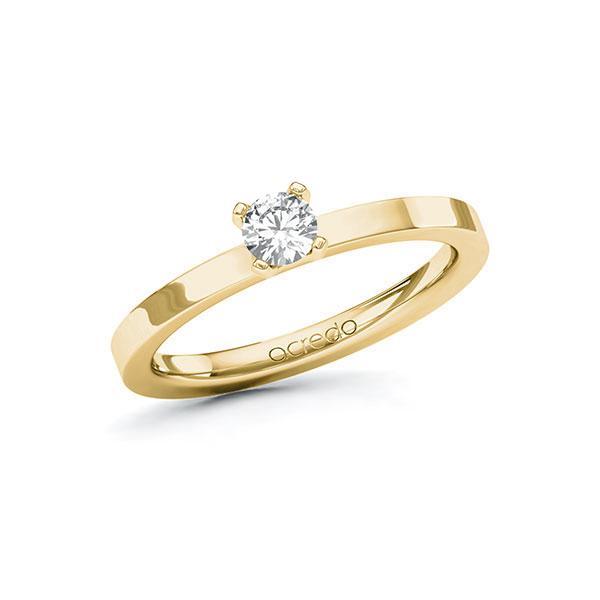 Verlobungsring in Gelbgold 585 mit zus. 0,25 ct. Brillant tw, si von acredo - A-10EYED-GG5-1R0QNIZ