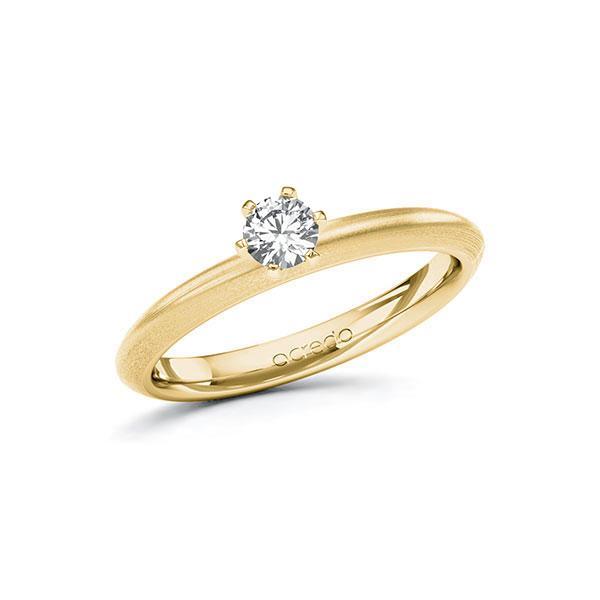 Verlobungsring in Gelbgold 585 mit zus. 0,25 ct. Brillant tw, si von acredo - A-10FGYD-GG5-1R0VCEZ