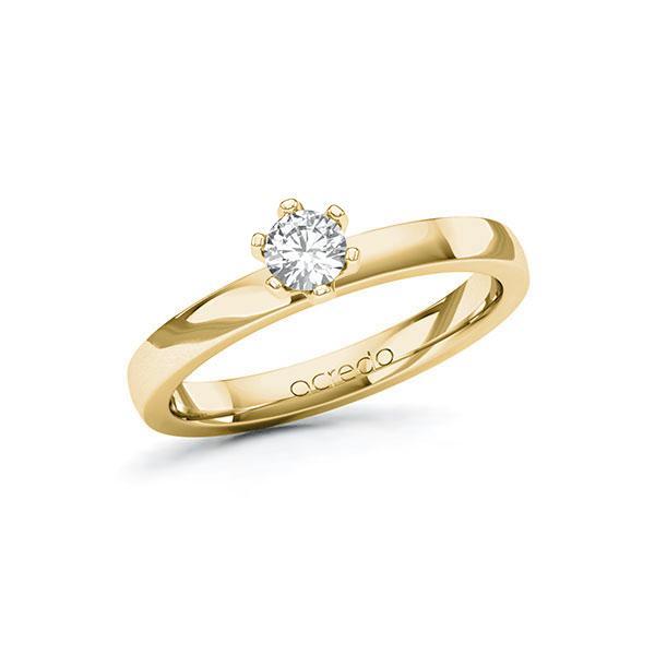 Verlobungsring in Gelbgold 585 mit zus. 0,25 ct. Brillant tw, si von acredo - A-10G3L9-GG5-1R0SUJZ