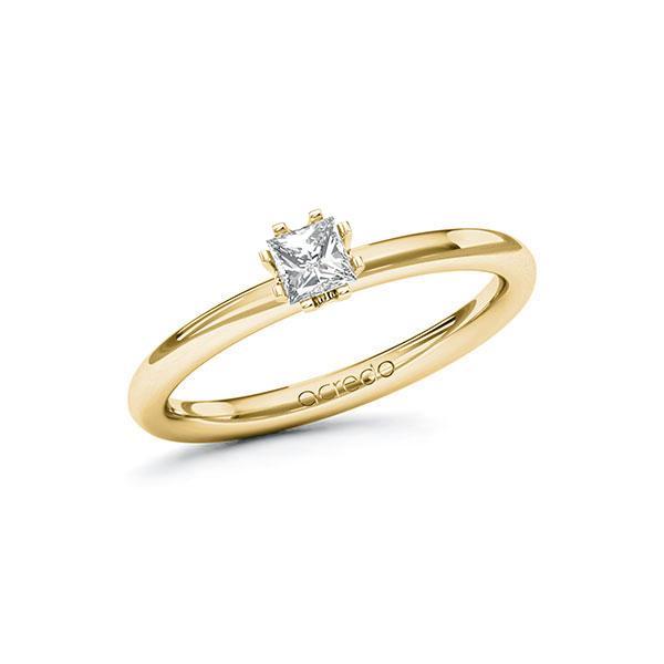 Verlobungsring in Gelbgold 585 mit zus. 0,25 ct. Prinzess-Diamant tw, si von acredo - A-10F8A4-GG5-1R4747Z
