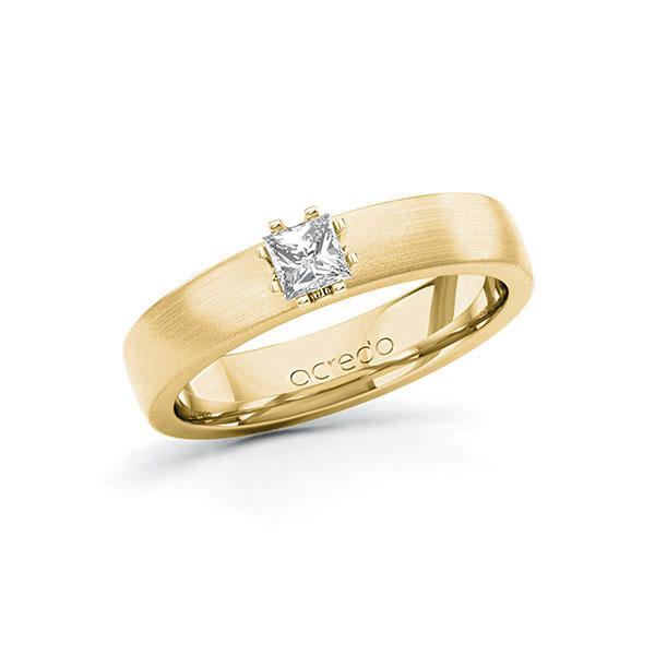 Verlobungsring in Gelbgold 585 mit zus. 0,25 ct. Prinzess-Diamant tw, si von acredo - A-10G3JJ-GG5-1R4747Z