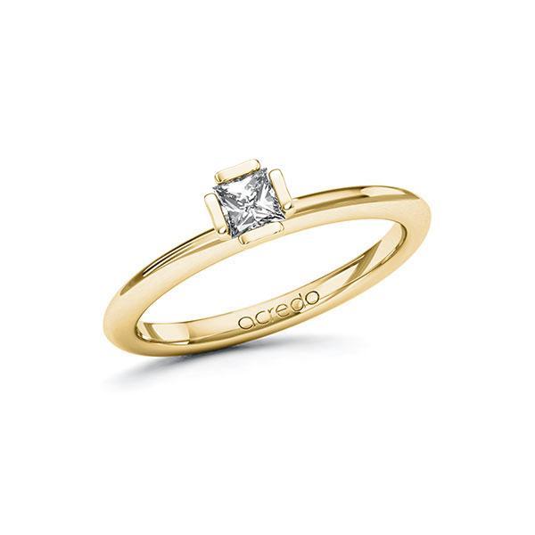 Verlobungsring in Gelbgold 585 mit zus. 0,25 ct. Prinzess-Diamant tw, si von acredo - A-10GC6W-GG5-1QLNDWZ