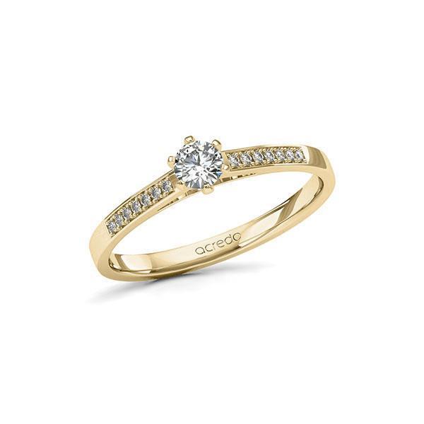 Verlobungsring in Gelbgold 585 mit zus. 0,27 ct. Brillant tw, si von acredo - A-11LSAA-GG5-1TVPQPZ