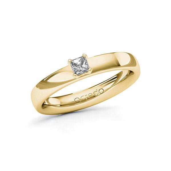 Verlobungsring in Gelbgold 585 mit zus. 0,2 ct. Brillant tw, si von acredo - A-10G3DF-GG5-1R0VX2Z