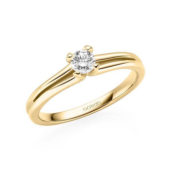 Verlobungsring in Gelbgold 585 mit zus. 0,2 ct. Brillant tw, si von acredo - A-11LBK0-G5-1TWF3Z