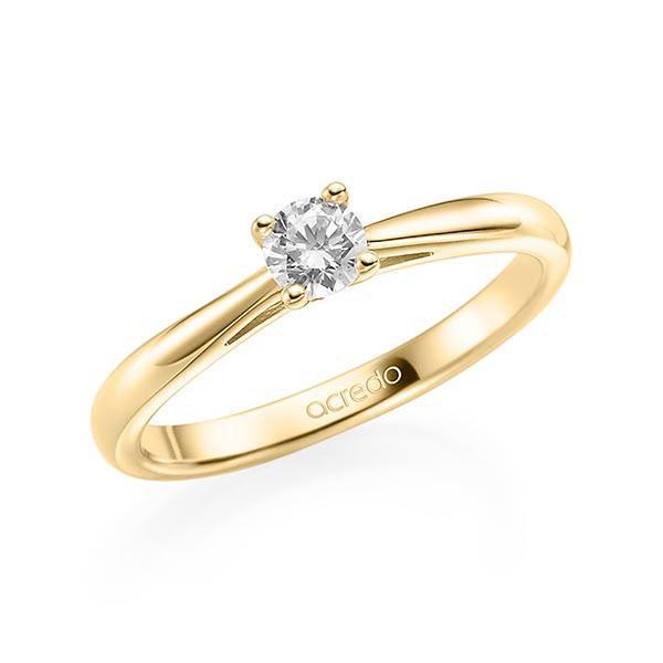 Verlobungsring in Gelbgold 585 mit zus. 0,2 ct. Brillant tw, si von acredo - A-ZI8BG-G5-1TWF3Z