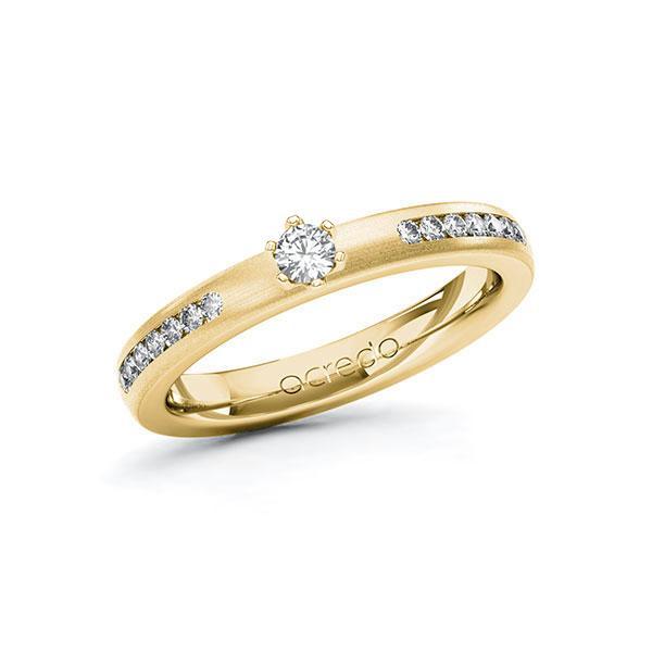 Verlobungsring in Gelbgold 585 mit zus. 0,31 ct. Brillant tw, si von acredo - A-ZWRUA-GG5-1R4R15Z