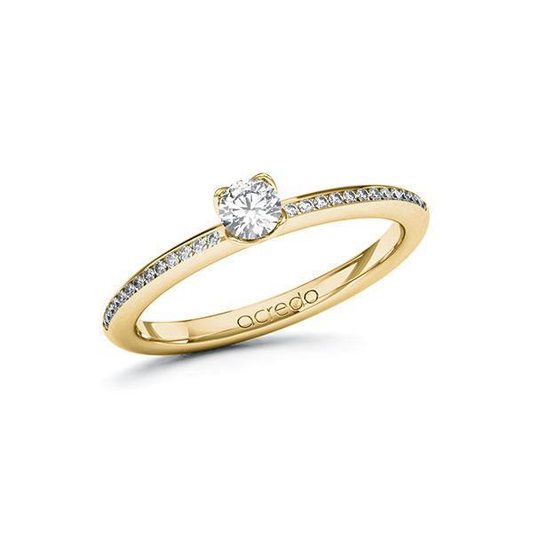 Verlobungsring in Gelbgold 585 mit zus. 0,33 ct. Brillant tw, si von acredo - A-ZZE0A-GG5-1R9BCVZ