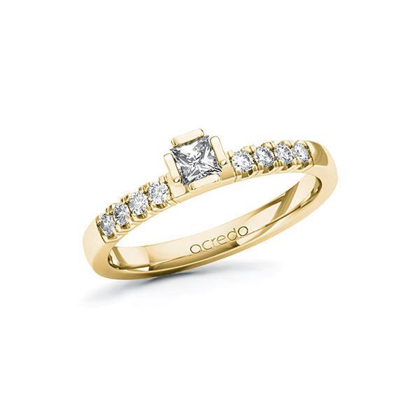 Verlobungsring in Gelbgold 585 mit zus. 0,36 ct. Prinzess-Diamant tw, si von acredo - A-ZWIAB-GG5-1R48SEZ