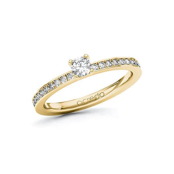 Verlobungsring in Gelbgold 585 mit zus. 0,4 ct. Brillant tw, si von acredo - A-101ZRQ-GG5-1RDXMEZ
