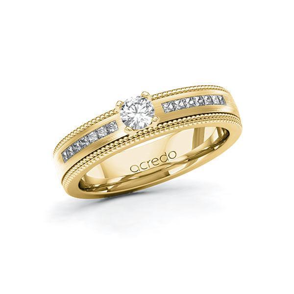 Verlobungsring in Gelbgold 585 mit zus. 0,62 ct. Brillant tw, vs tw, si von acredo - A-11LH65-GGG5-1TEKR5Z